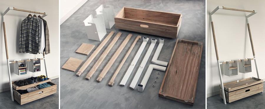 A Arara Nômade é modular e quando desmontada, cabe em uma pequena caixa de madeira