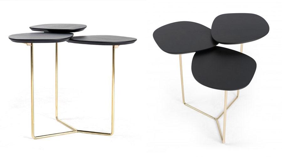 A mesa lateral Drie é outra peça desenhada por Luan Del Savio para a Moora Mobília Brasileira