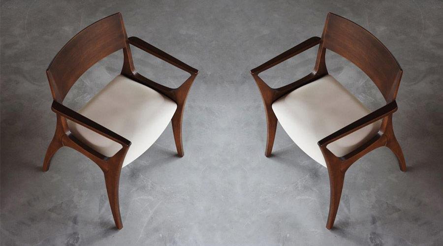 A Cadeira Vell, de Luan Del Savio, apresenta traços pontuais e minimalistas, que conferem um ar leve para o lançamento