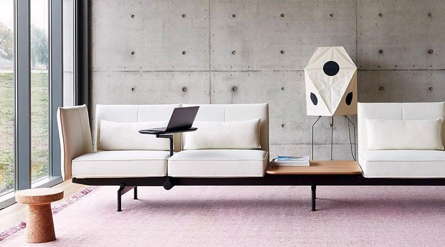 Para a Vitra, a mesa não é mais o centro do ambiente corporativo. O sofá tornou-se o novo escritório