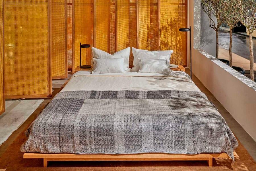 Em Das Haus, apenas o quarto parecia ser ligeiramente separado pelo uso de divisórias que agiam como persianas