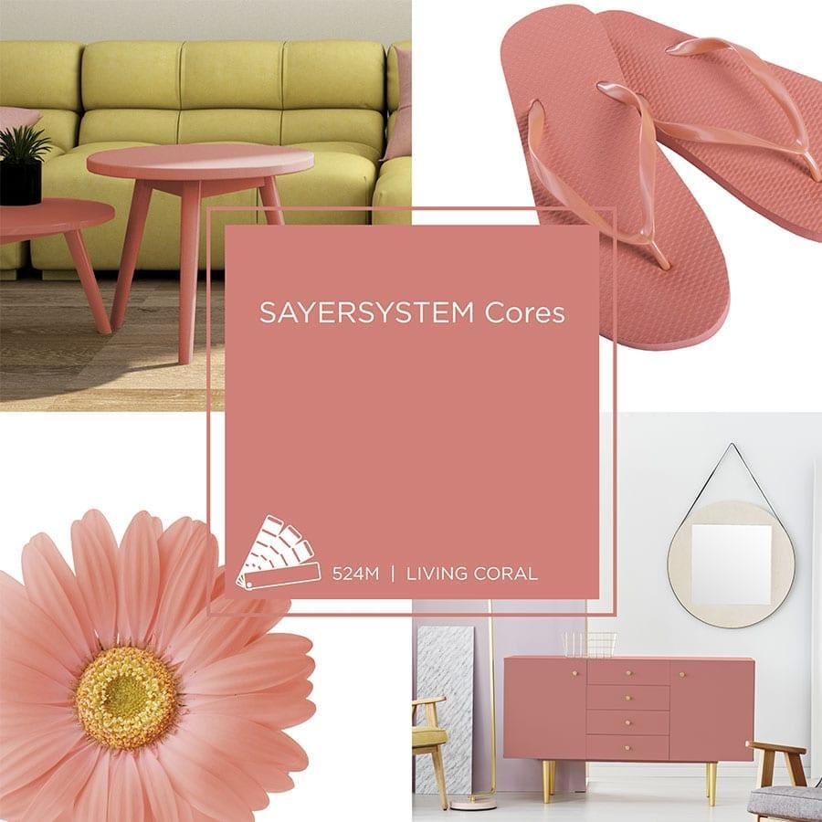 Living Coral, a cor do ano de 2019 da Pantone, deve aparecer no radar de muitos profissionais da marcenaria, design e arquitetura de interiores