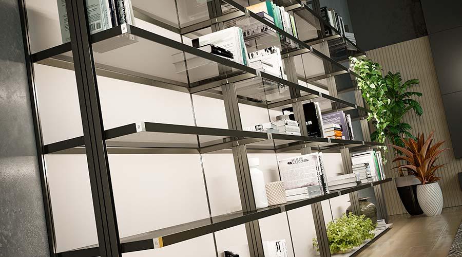 Autoexpressão, transparência e flexibilidade sintetizam o lançamento do Sistema Luce, numa parceria do escritório milanês Decoma Design com a Bontempo