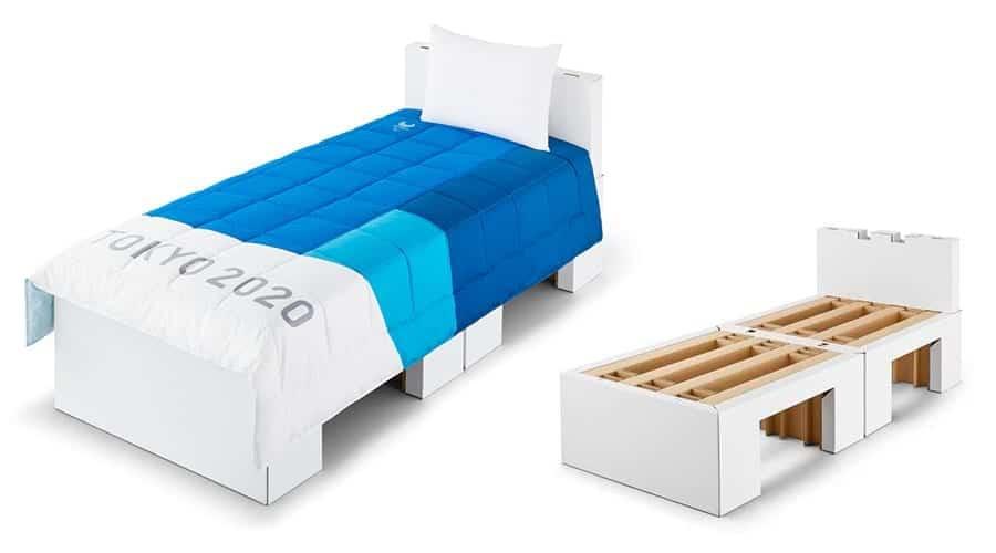 O Comitê Organizador das Olímpiadas de Tóquio 2020 anunciou que as camas dos atletas serão feitas de papelão altamente resistente